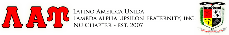 Nu Chapter of Latino America Unida, Lambda Alpha Upsilon Fraternity, Inc.